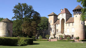 Castle of Sercy in South Burgundy