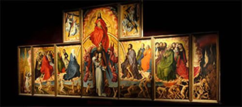 polyptych of the Last Judgment - Beaune Hotel Dieu